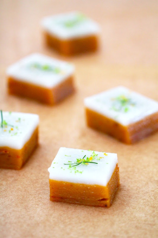 ... Sweet Potato Cake With Coconut Milk, Lemongrass and Kaffir Lime Leaves