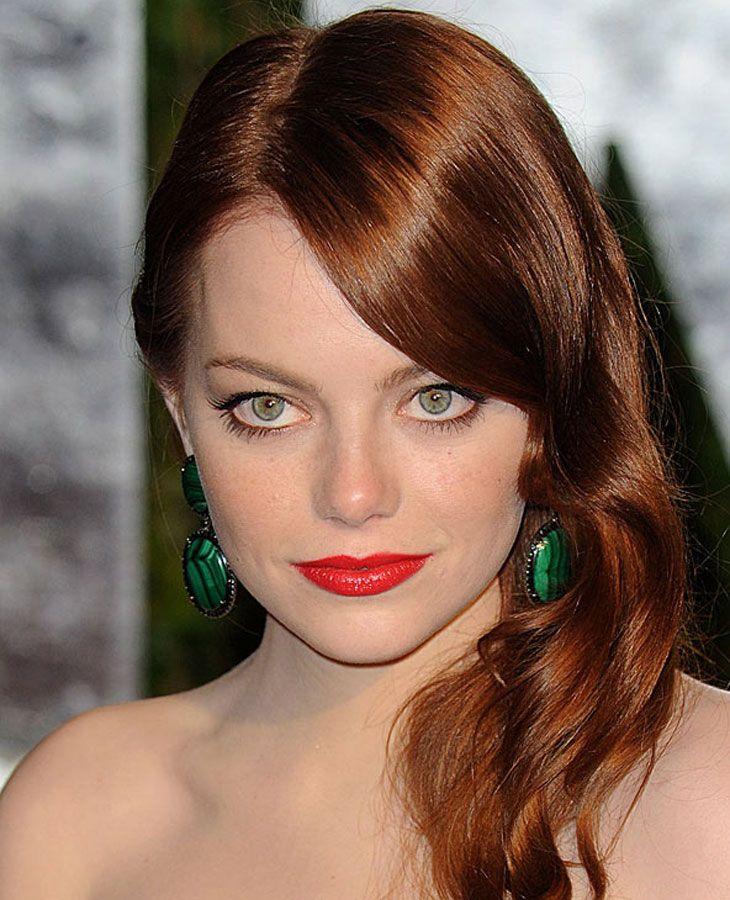 Emma Stone Reddish Brown Hair Color | Brown Hair Color | Pinterest