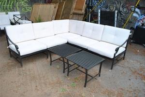 Strathwood Falkner 3 Piece L Shape Sofa Sectional Outdoor Patio Deck