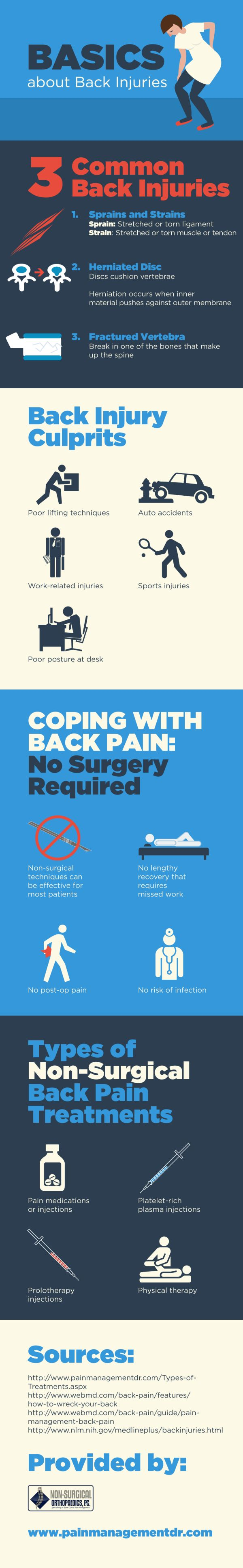 Auto accidents and work-related injuries are some of the most common culprits of back injuries. Check out this infographic from an orthopaedic doctor in Marietta for tips that can help you handle your back pain.