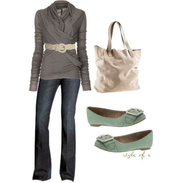 """""""Cream Tote"""" by styleofe on Polyvore"""