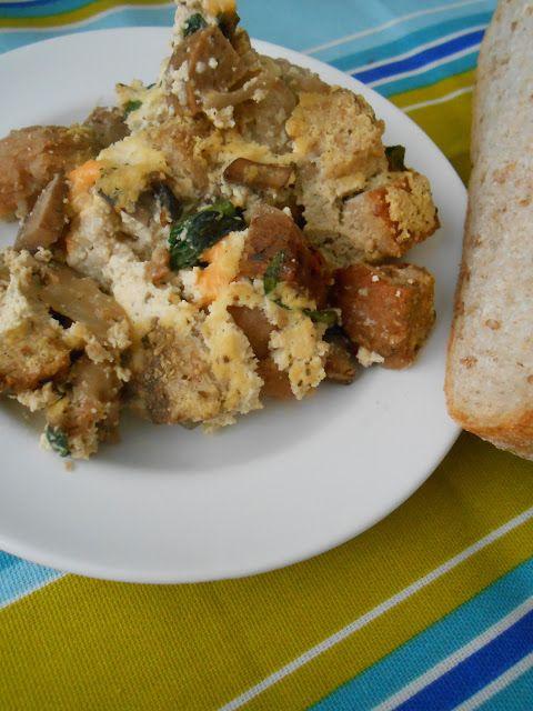 Savory Spinach & Sausage Bread Pudding | Great Vegan Recipes | Pinter ...