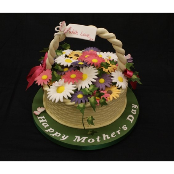 Flower Basket Mothers Day Cake : Mothers day flower basket things i like a lot