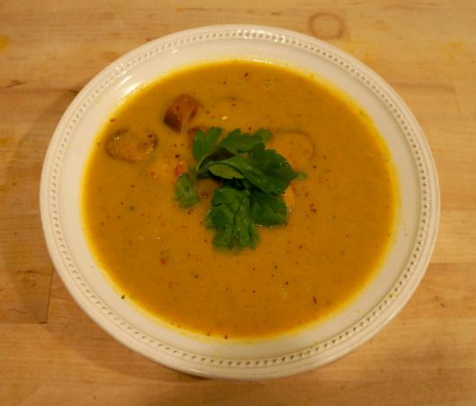 Sweet Potato and Sausage Soup | Edible Possibilities | Pinterest
