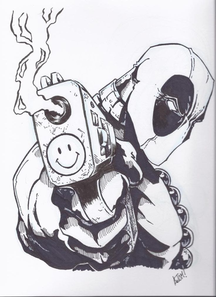 Gallery For gt Deadpool Black And White Simple