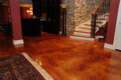 concrete stain designs staining concrete basement floor 146