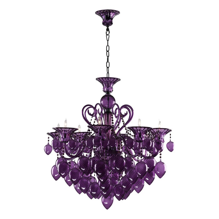 a glossy statement chandelier for sure.