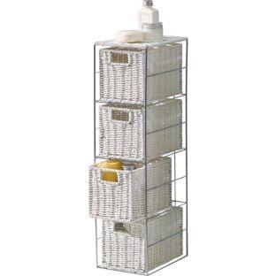 Slimline 4 Drawer Storage Tower