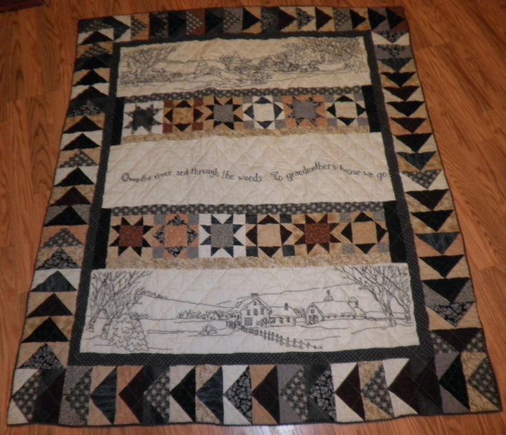 Over the River quilt | Quilts | Pinterest