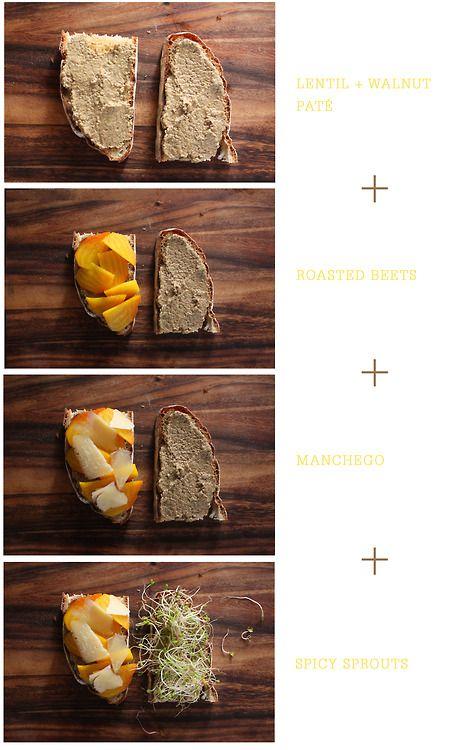 Sunshine Sandwich Lentil + Walnut Paté / Roasted Beets / Manchego ...