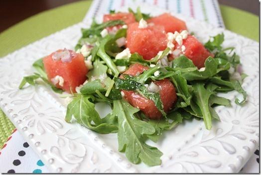 Arugula, Watermelon, and Feta Salad | did she say avocado? | Pinterest