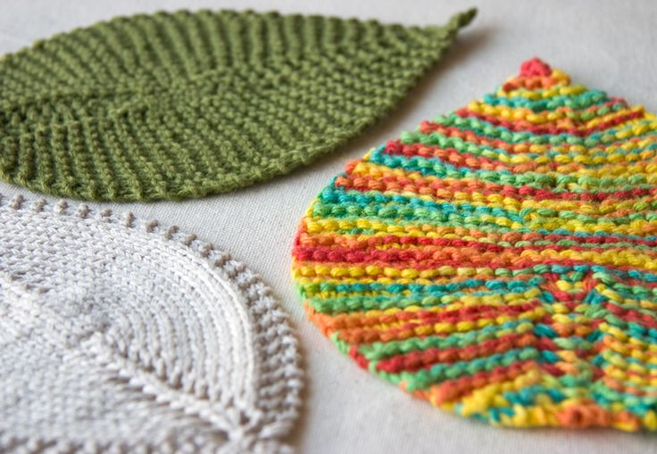 Knitting Washcloth Patterns : leafy wash cloth Knitting and crochet Pinterest