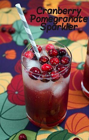 Cranberry Pomegranate Sparkler   Liquor Is Quicker   Pinterest