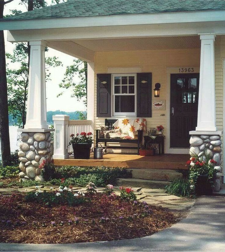 Small but cute front porch the home in my head pinterest for Cute front porches
