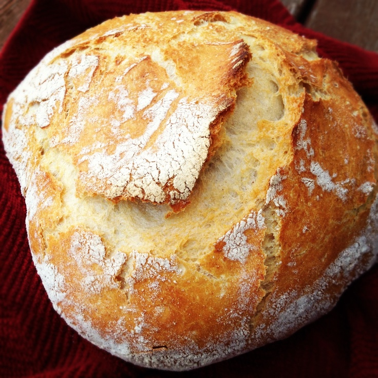 Homemade crusty, artisan bread. | Spin The Meal Recipes | Pinterest