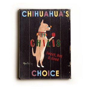 Chihuahua Chilis Wood Sign 9x12 now featured on Fab.