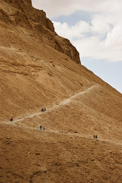The snake path in masada israel and places of the bible pinterest