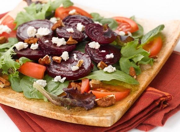 Roasted Beet and Feta Salad » Deliciously Different