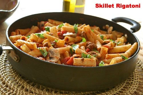 Skillet rigatoni with marinara sauce | Lunch/Dinner | Pinterest