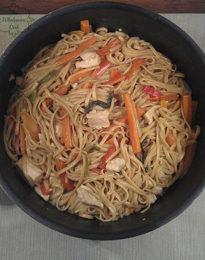 Chicken lo mein - sub rice noodles for gluten free