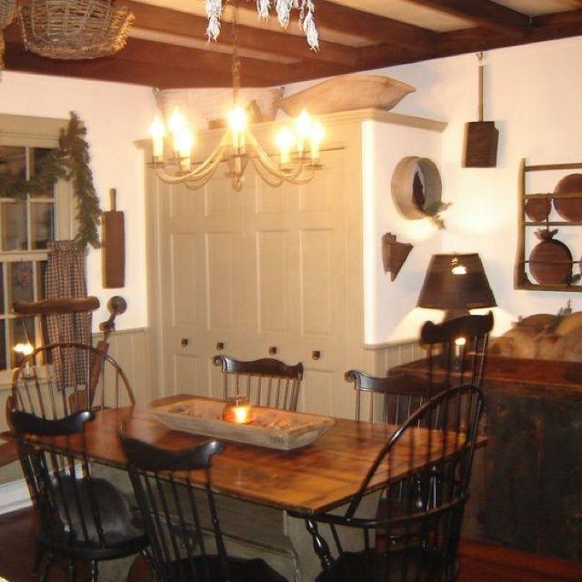 Primitive dining room | Dining Rooms | Primitives | Pinterest
