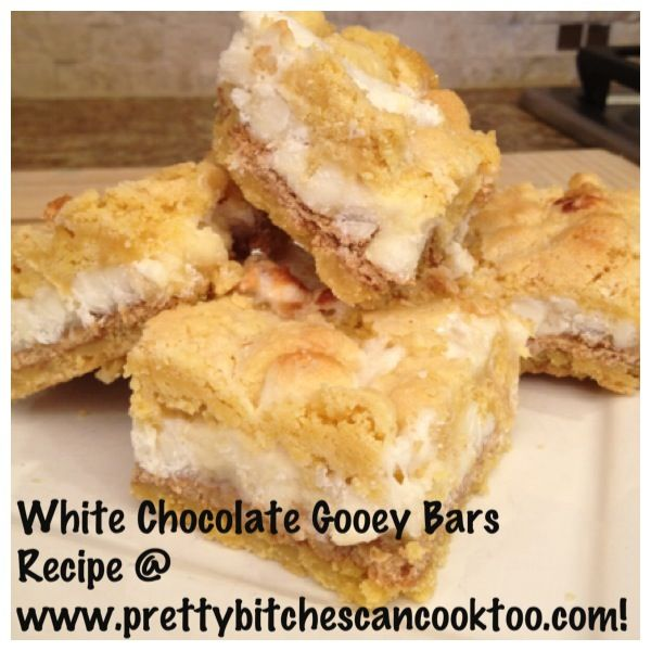 White Chocolate Gooey Bars | Dessserts | Pinterest