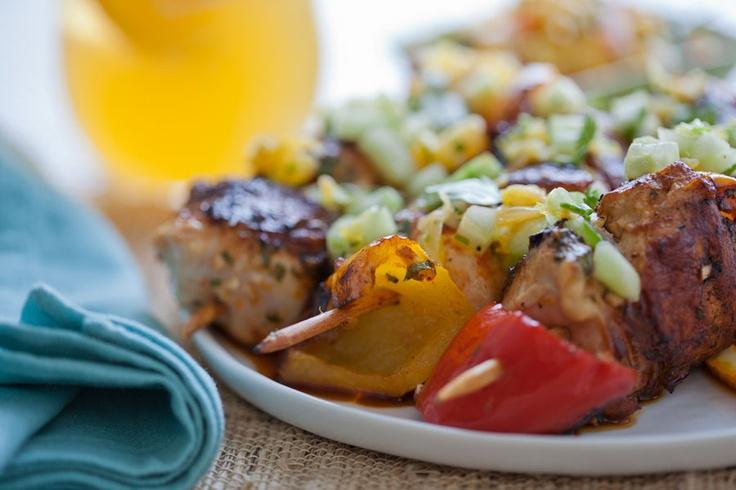 Grilled Honey Orange Chicken Skewers w/ Cucumber-Orange-Cilantro Salsa ...