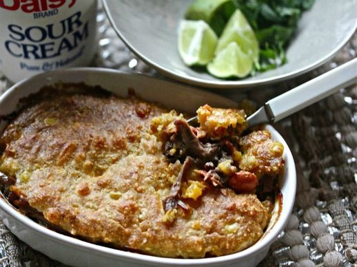 Sonoran Pot Roast Pie with Cheesy Cornbread Crust | Recipe