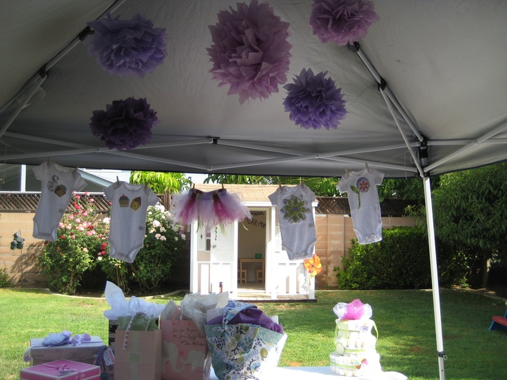 Tent decor nicole baby shower pinterest for Baby shower canopy decoration