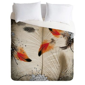 It at wayfair iveta abolina feathered arrows duvet cover for Deny designs free shipping code