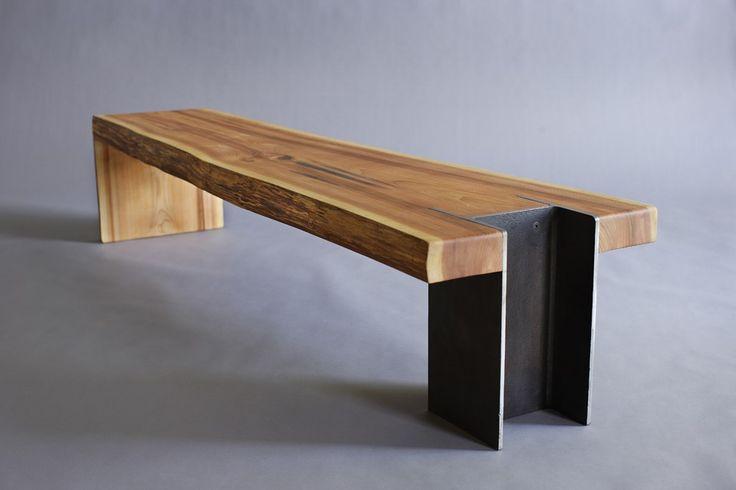 10x42 Bench Live Edge Cedar Slab Bench