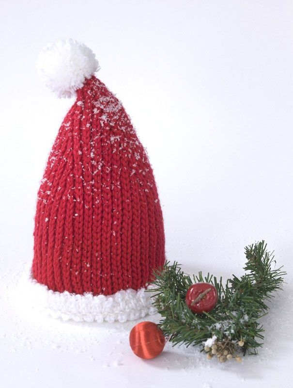 Knitting Pattern For Infant Santa Hat : Caron Simply Soft  Baby Santa Hat. Crocheting/Knitting Pinter?