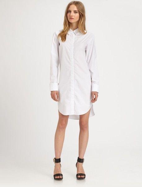 white shirt dress | English Countryside | Pinterest