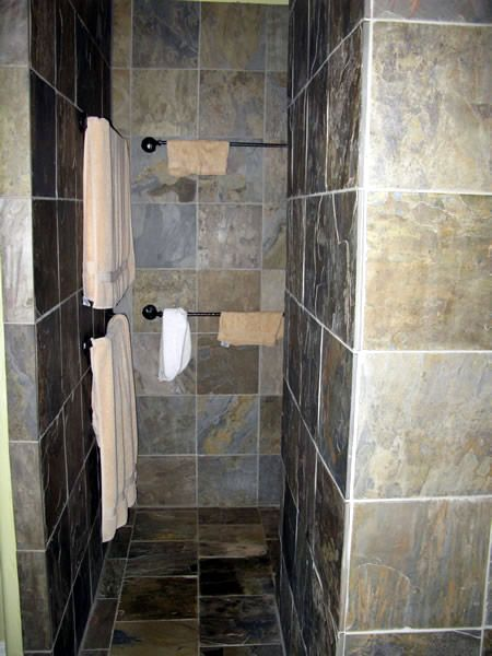 Stone No Door Shower Decorative Home Projects Pinterest