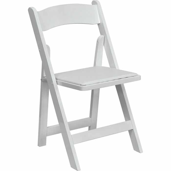 White wood or resin folding chair Sethi Friday Event
