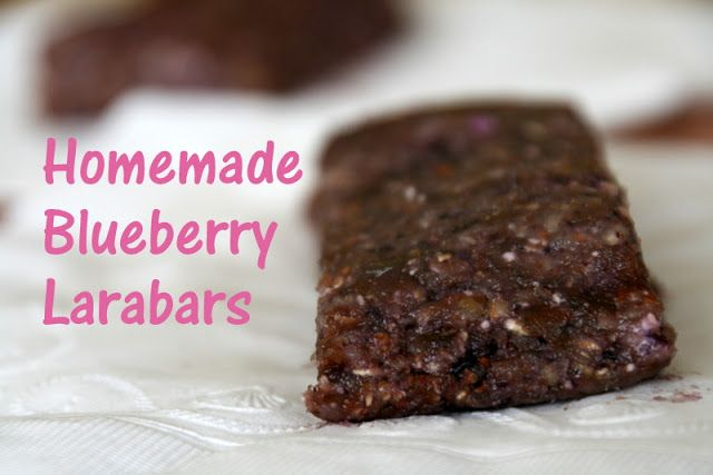 The Sweet {Tooth} Life: Homemade Blueberry Larabars