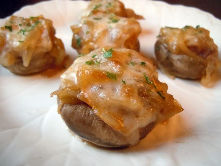French onion soup stuffed mushrooms | Veggie Time | Pinterest