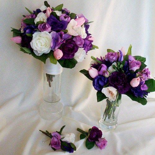 Artificial Tulip Wedding Bouquets :