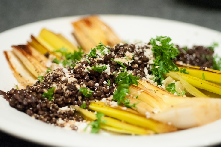 Braised leeks and muscovado lentils | Photos of food I make :) | Pint ...