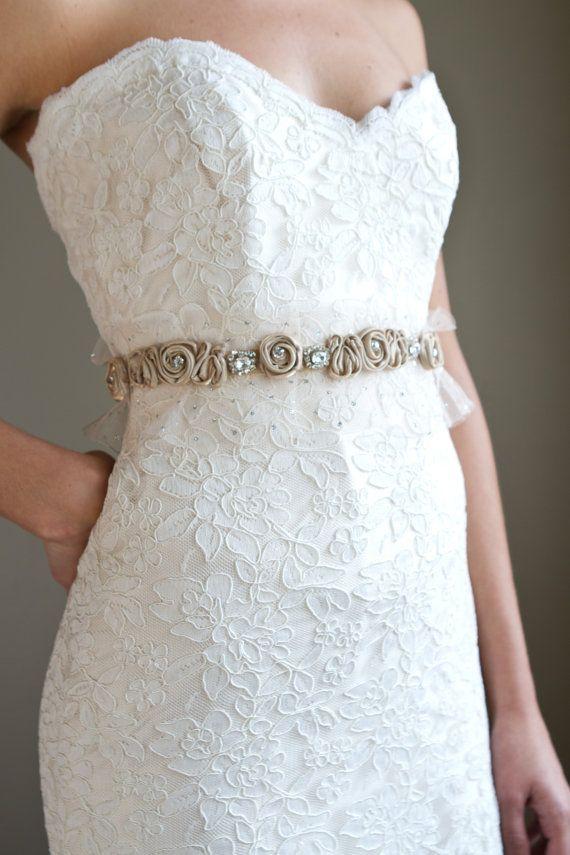 bride wedding dress sash ideas