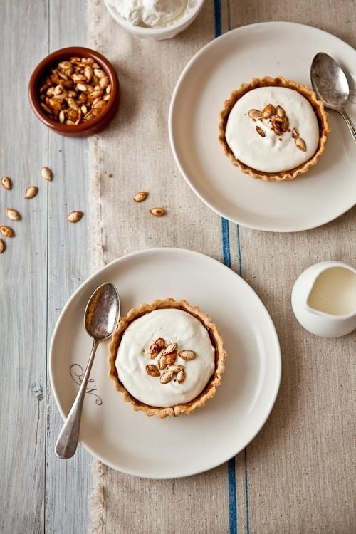 Drunken Pumpkin Bourbon Tart on Tartelette blog by vonda