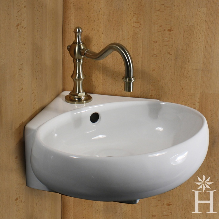 Corner Vanity And Sink : ... 13-inch Oval Corner Wall Mount Vessel Vanity Sink Overstock.com