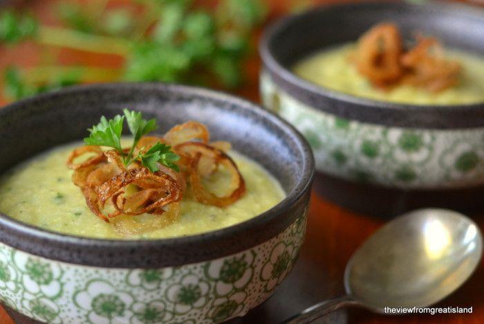 Cauliflower Soup...with Crispy Shallots
