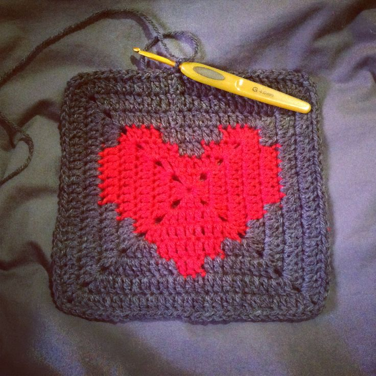Crochet Granny Square Heart Patterns : Pin by Niki Coburn McNeil on Crochet Granny Squares ...
