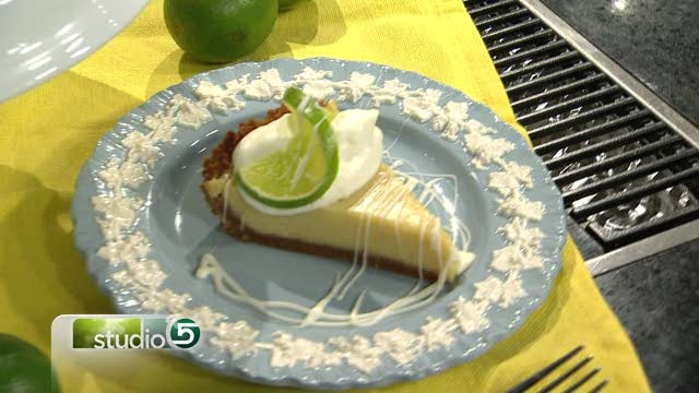 White Chocolate Key Lime Pie - from Studio 5