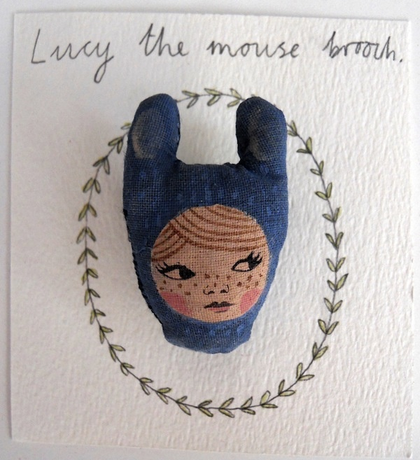 lucy the mouse brooch