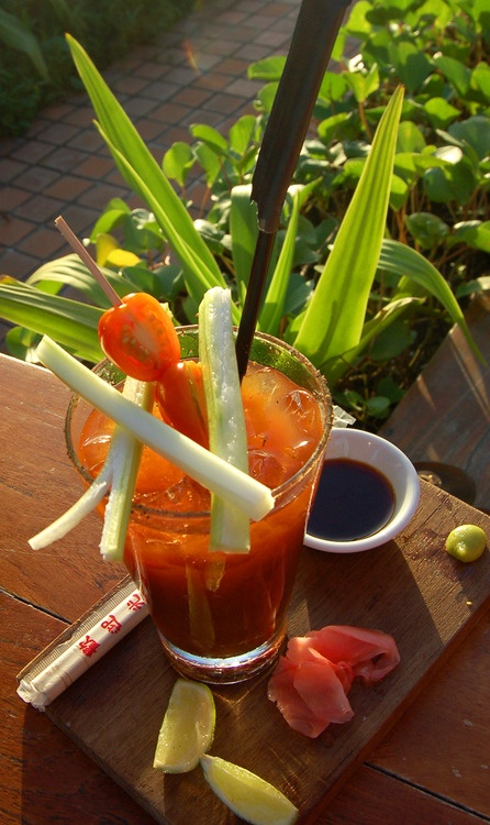 An Asian Inspired Bloody Mary Recipes — Dishmaps