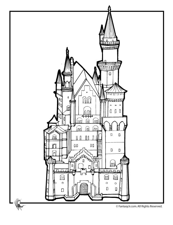 Fairy Tale Castle Pages Coloring