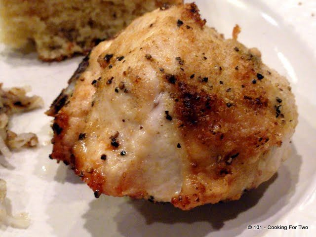 Garlic Oven Roasted Bone-in Skin-on Chicken Breast | Recipe