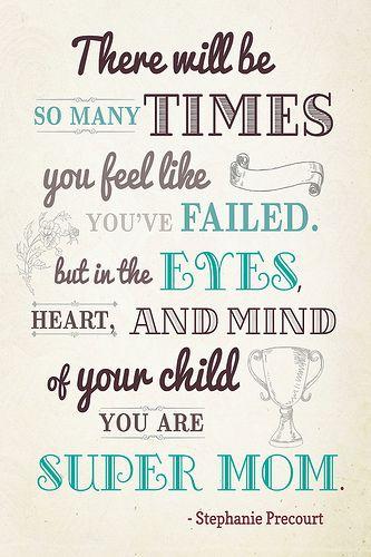 super mom quote by a super blogger